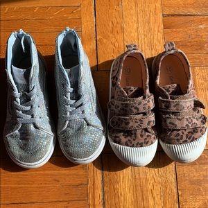 Girls toddler 10 vans and leopard sneakers